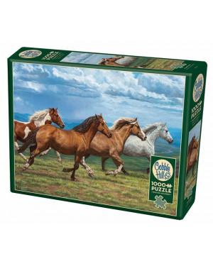 פאזל סוסים דוהרים 1000 חלקים ברשת בזאר שטראוס צעצועים