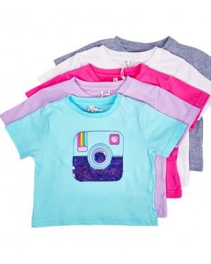 חולצה פייטים מצלמה צבעים לבחירה מידות 2-8