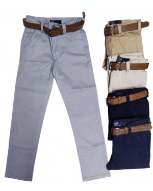 מכנסי דריל אלגנט לבנים מידות 3-18