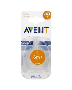 זוג פטמות לבקבוק | AVENT | אוונט | שלב 4 | גיל 6m+