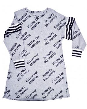 שמלה עם מלמלה ריב מידות 8-12