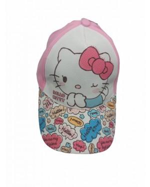 כובע מצחיה בנות | הלו קיטי | ורוד