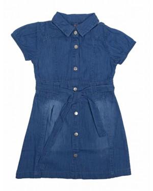 שמלת ג'ינס מעוצבת | גינס כחול בהיר
