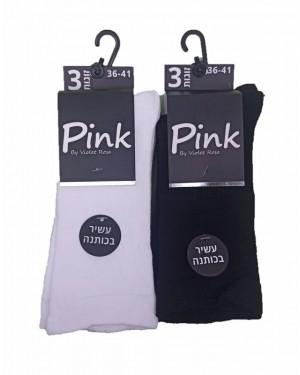 שלישית גרבי נשים   PINK  