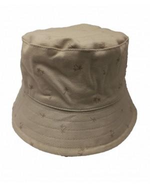 כובע רחב שוליים לתינוק | MINENE | צבע חאקי עם דקלים