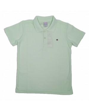 חולצה קצרה פולו לנוער | צבע ירוק בהיר