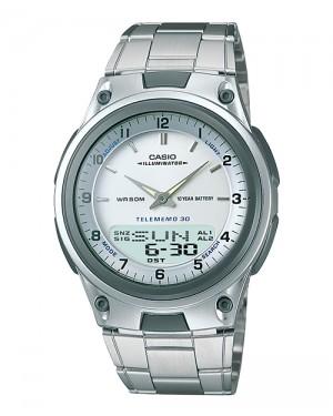 שעון מחוגים קסיו לבנים AW-80D-7AV