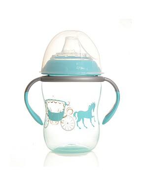 כוס אימון דוכס עם פיית סיליקון עם ידיות בצבע תכלת