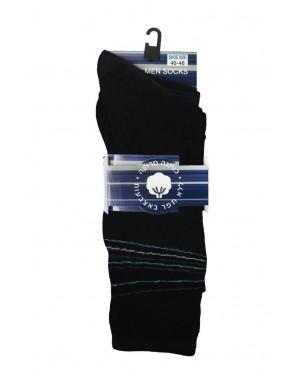 גרבי גבר - עיצוב פסים מקבילים  בקצה