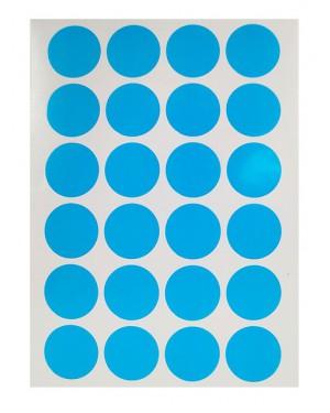 מדבקות עיגולים בצבע כחול
