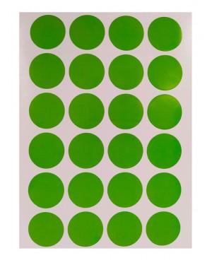 מדבקות עיגולים בצבע ירוק 10 דפים באריזה