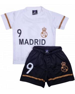 חליפת כדורגל ריאל מדריד לבנים מידות 4-12