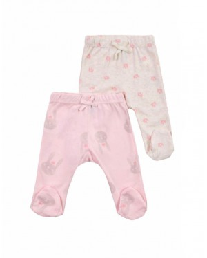 זוג מכנסי תינוקות מיננה וורוד שמנת