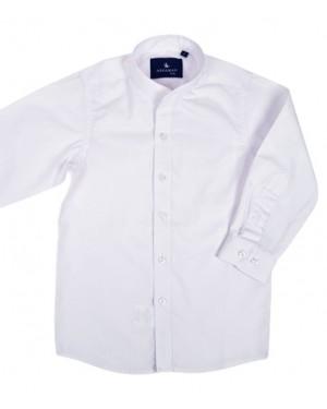 חולצה לבנה אלגנט לבנים צווארון סיני