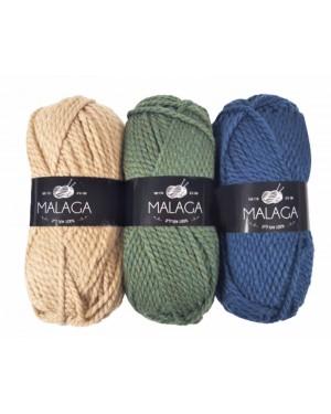 חוטי צמר מלגה MALAGA כל הצבעים לבחירה