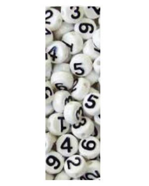 חרוזי מספרים - שחור לבן