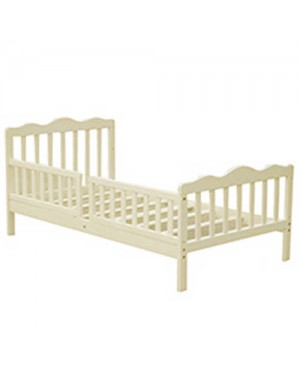 מיטת מעבר מעץ מלא צבע לבן