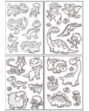 מדבקות שקפים- דינוזאורים