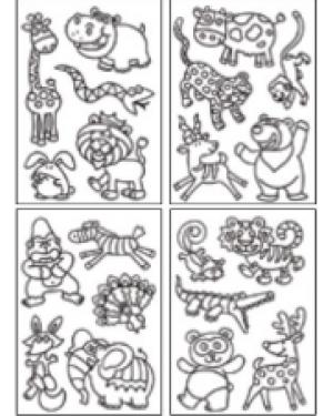 מדבקות שקפים- חיות יער