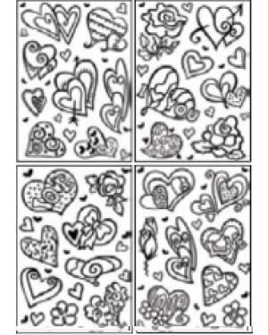 מדבקות שקפים- לבבות