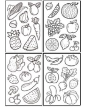 מדבקות שקפים- פירות וירקות