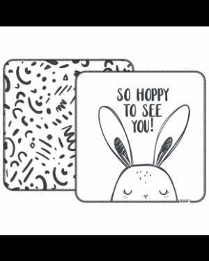 זוג חיתולי פלנל מודפסים הדפס ארנב ואיורים
