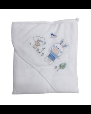 מגבת קפוצ'ון לתינוק בביטוף