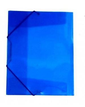 תיקייה עם גומי- צבע כחול