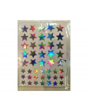 מדבקות כוכבים - כסף