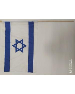 דגל ישראל גדול מקל עץ